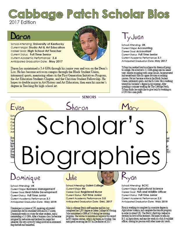 Scholar's Bios